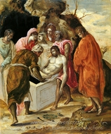The Entombment of Christ painting reproduction, El Greco