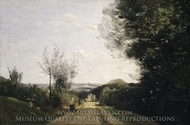 The Environs of Paris painting reproduction, Jean-Baptiste Camille Corot