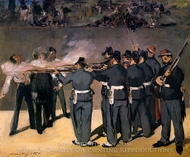 The Execution of the Emperor Maximilian painting reproduction, Edouard Manet
