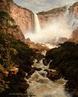 The Falls of the Tequendama near Bogota, New Granada painting reproduction, Frederic Edwin Church