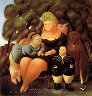 The Family painting reproduction, Fernando Botero