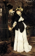 The Farewell painting reproduction, James Tissot