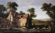 The Farm painting reproduction, Jean Baptiste Oudry