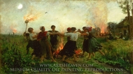 The Feast of Saint John painting reproduction, Jules Breton