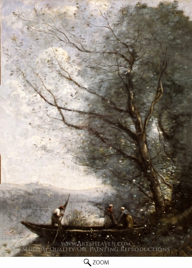 Jean-Baptiste Camille Corot, The Ferryman oil painting reproduction
