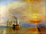 The Fighting Temeraire painting reproduction, J.M.W. Turner