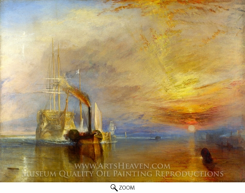 J.M.W. Turner, The Fighting Temeraire oil painting reproduction