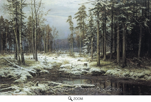 Ivan Shishkin, The First Snow oil painting reproduction