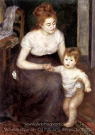 The First Step painting reproduction, Pierre-Auguste Renoir