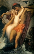 The Fisherman and the Syren painting reproduction, Lord Frederic Leighton