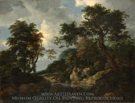 The Forest Stream painting reproduction, Jacob Van Ruisdael