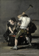 The Forge painting reproduction, Francisco De Goya