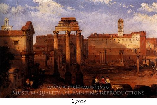David Roberts, The Forum, Rome oil painting reproduction