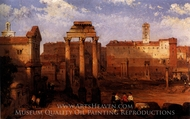 The Forum, Rome painting reproduction, David Roberts