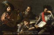 The Four Ages of Man painting reproduction, Valentin De Boulogne