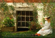 The Four Leaf Clover painting reproduction, Winslow Homer
