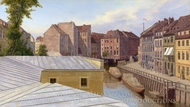 The Friedrichsgracht, Berlin painting reproduction, Eduard Gaertner