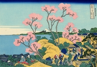 The Fuji from Gotenyama at Shinagawa on the Tokaido painting reproduction, Katsushika Hokusai
