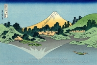 The Fuji Reflects in Lake Kawaguchi, Seen from the Misaka Pass in the Kai Province painting reproduction, Katsushika Hokusai