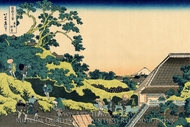 The Fuji Seen from the Mishima Pass painting reproduction, Katsushika Hokusai