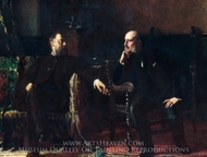 The Funding Bill painting reproduction, Eastman Johnson
