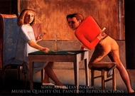 The Game of Cards painting reproduction, Balthus