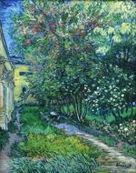 The Garden at the Asylum at Saint-Remy painting reproduction, Vincent Van Gogh
