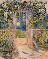 The Garden Gate painting reproduction, Claude Monet