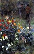 The Garden in the Rue Cortot, Montmartre painting reproduction, Pierre-Auguste Renoir
