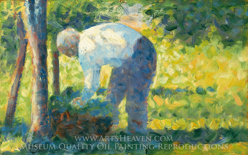 georges seurat the gardener oil painting reproduction