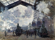The Gare Saint-Lazare painting reproduction, Claude Monet
