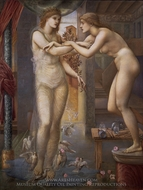 The Godhead Fires painting reproduction, Edward Burne-Jones