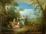 The Golden Age painting reproduction, Jean-Baptiste Joseph Pater