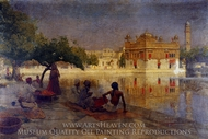 The Golden Temple, Amritsar painting reproduction, Edwin Lord Weeks