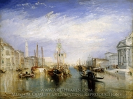 The Grand Canal, Venice painting reproduction, J.M.W. Turner