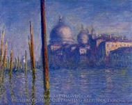 The Grand Canal, Venice painting reproduction, Claude Monet