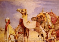 The Greeting in the Desert painting reproduction, John Frederick Lewis