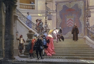 The Grey Cardinal (L'Eminence Grise) painting reproduction, Jean-Leon Gerome