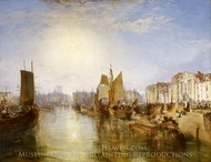 The Harbor of Dieppe painting reproduction, Joseph Mallord William Turner
