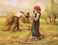 The Harvesting of the Hay (La Recolte des Foins) painting reproduction, Julien Dupre