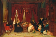 The Hatch Family painting reproduction, Eastman Johnson