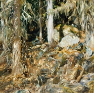 The Hermit painting reproduction, John Singer Sargent