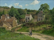 The Hermitage at Pontoise painting reproduction, Camille Pissarro