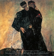 The Hermits painting reproduction, Egon Schiele