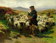 The Highland Shepherd painting reproduction, Rosa Bonheur