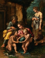 The Holy Family painting reproduction, Giulio Romano