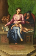 The Holy Family (Il Silenzio) painting reproduction, Marcello Venusti