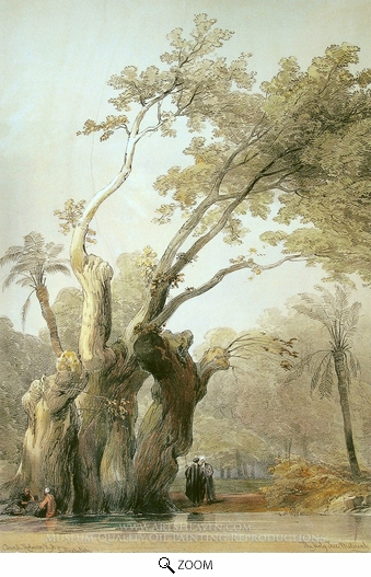 David Roberts, The Holy Tree of Metereah oil painting reproduction