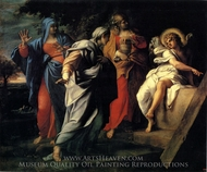 The Holy Women at Christ's Sepulchre painting reproduction, Annibale Carracci