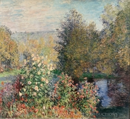 The Hoschedes' Garden at Montgeron painting reproduction, Claude Monet